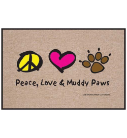Peace Love Paws Indoor / Outdoor Doormat