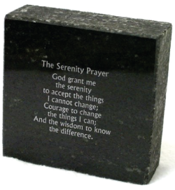 The Serenity Prayer Granite Block